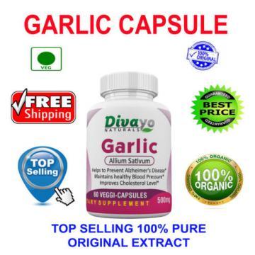 Garlic 500 mg Capsules Top Selling Free WorldWide Shipping