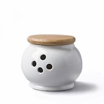 WM Bartleet & Sons Garlic Storage Pot with Beech Lid