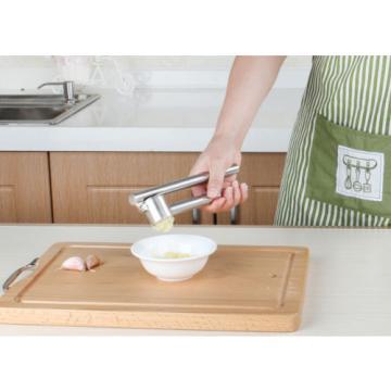 Stainless Steel Garlic Press Crusher Squeezer Masher Home Kitchen Mincer Tools