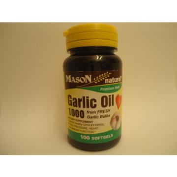 100 SOFTGELS GARLIC OIL 1000 mg CONCENTRATE lower cholesterol Supplement cardio
