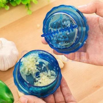 Kitchen Hand Tools Plastic Garlic Press Presser Crusher Masher Cutter Slicer TW