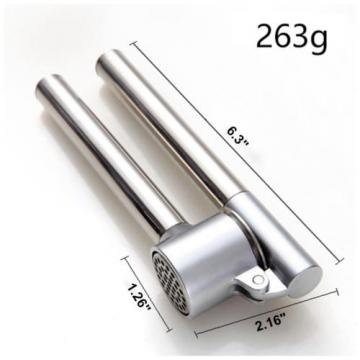 304 Stainless Steel Garlic Ginger Press Removable Insert Sturdy Kitchen Tool