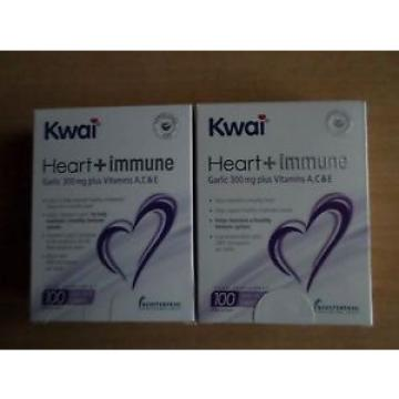 2  X KWAI  HEART+IMMUNE GARLIC 300 MG PLUS TABLETS  100s  1 A DAY 100 X 2