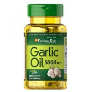 GARLIC OIL 5000mg HEART HEALTH DIETARY SUPPLEMENT 100 RAPID RELEASE SOFTGELS