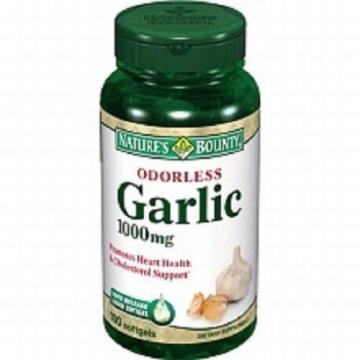 Nature's Bounty Odorless Garlic 1000 mg Dietary Supplement Softgels