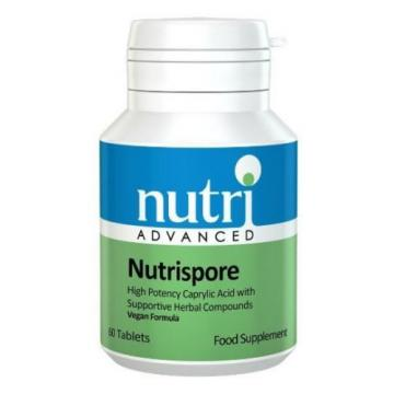 Nutri Advanced Nutrispore 60 Tablets with  Garlic, Thyme, Undecylenic Acid New