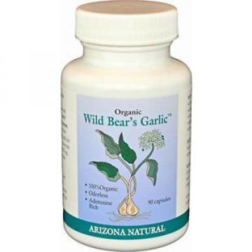 Arizona Natural Organic Wild Bear's Garlic For Blood Cleansing - 90 Capsules