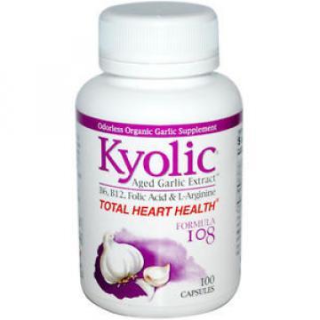 Kyolic Aged Garlic Extract Homocysteine Formula 108 - 100 Capsules