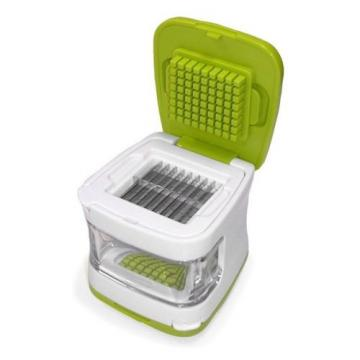 Compact Green Garlic Clear Cube Mincer Slicer Press,Dishwasher Safe Kitchen Tool