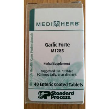 GARLIC FORTE M1285 STANDARD PROCESS 40 Eteric coated tablets Best by 01-17