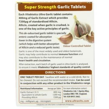 Vitabiotics Ultra Garlic Tablets - 60 Tablets NEW