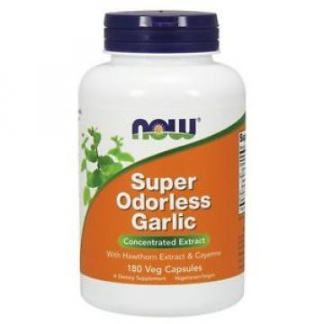 NOW Super Odorless Garlic Vcaps 180 Ct