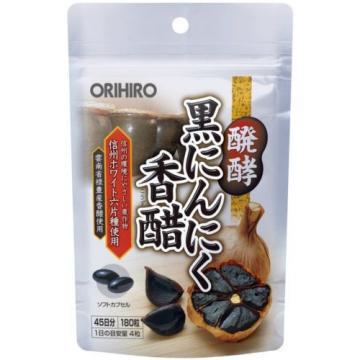 ORIHIRO Fermented Black Garlic Vinegar 180 capsules 45 days