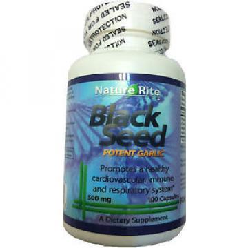 Black Cumin Seed _ Garlic _ 500mg 100 Capsules Nigella Sativa