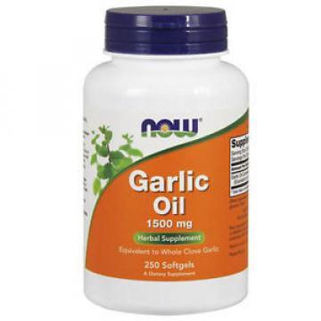 Garlic Oil 250 Sgels 1500 mg by Now Foods