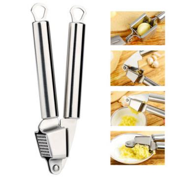 Stainless Steel Garlic Ginger Press Peeler Squeezer Mincer Crusher Kitchen Tool