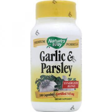 NATURES WAY - Garlic and Parsley 545 mg - 100 Capsules