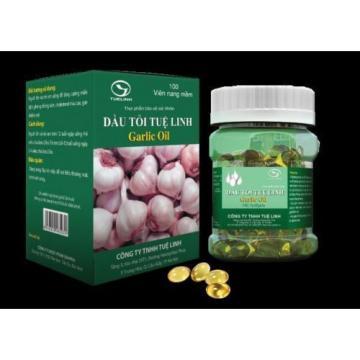 100 Capsules Pure Garlic Oil 5000mg - Cholesterol Cardio Health Fresh Softgels