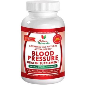 #1 Blood Pressure Supplement With Garlic Hawthorn Hibiscus | 90 Caps | 3/19