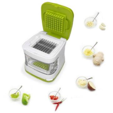 Garlic Press Chopper Slicer Hand Presser Grinder Crusher Inbuilt Plastic Tray