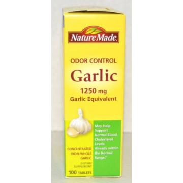 Nature Made Garlic 1250mg Odor Control Gluten Free  Expires January 2020