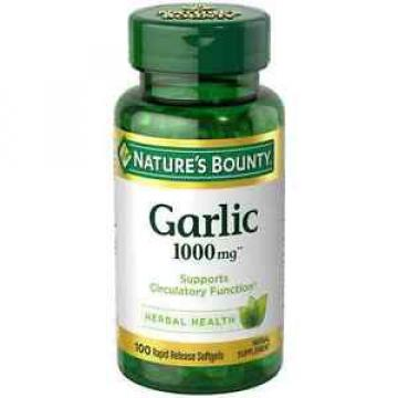 Nature's Bounty Garlic 1000 mg Softgels 100 ea (Pack of 6)