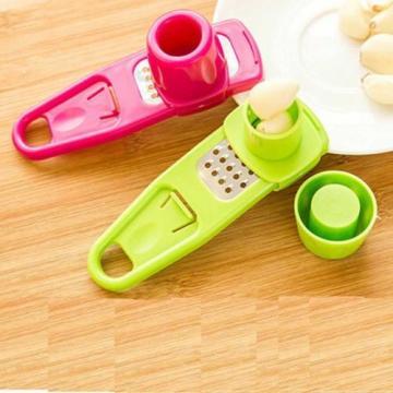 Plastic Small Tool Garlic Press Chopper Cutter Garlic Grinding Kitchen Tool