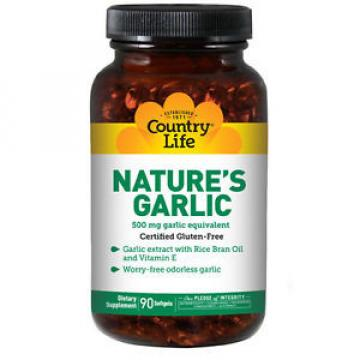 Nature's Garlic 90 Sftgls 500 MG by Country Life