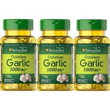 3  Ail 1000 mgr. 100 cap. antibiotique naturel, Garlic