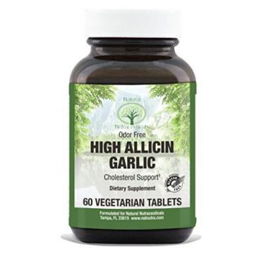 Natural Nutra High Allicin Garlic Supplement, Odorless, Enteric Coated, 500 mg