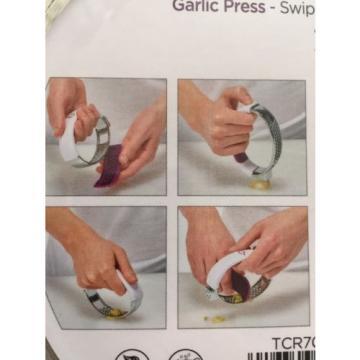 Crisp Garlic Press Crusher Swipe Slicer Crush Slice Kitchen Utensils Tool