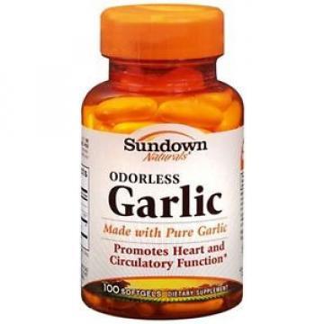 Sundown Naturals Odorless Garlic Softgels 100 Soft Gels (Pack of 2)
