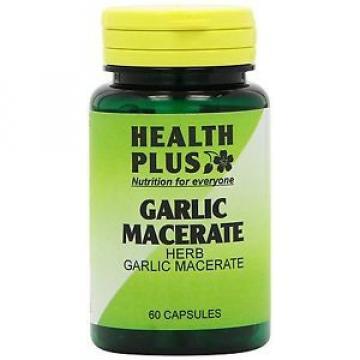 Health Plus Garlic Macerate 530mg Digestive Health Plant Supplement -60 Capsules
