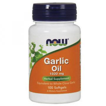 Garlic Oil 100 Sgels 1500 mg by Now Foods