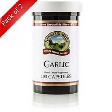 Natures Sunshine Garlic (100 caps) (ko) (Pack of 2)