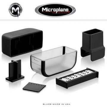 Microplane GARLIC CUTTER Stainless Steel Garlic Mincer BLACK