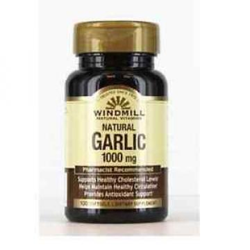 Windmill Garlic Oil 1000 mg Softgels 100 Soft Gels (Pack of 4)
