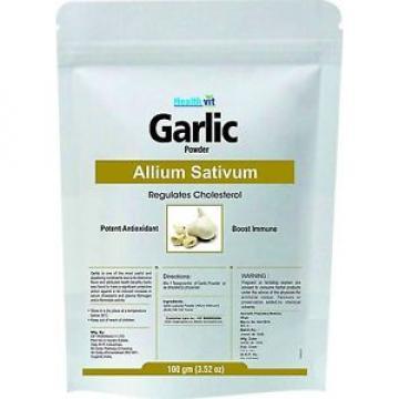 Healthvit Garlic /Lassun (Allium Sativum) Powder 100gms