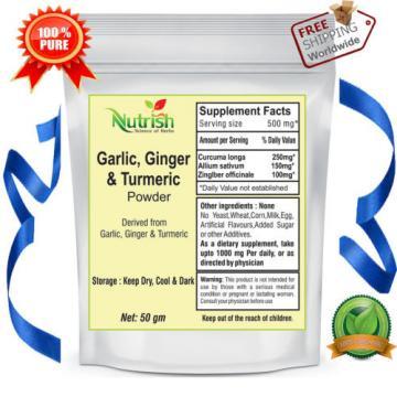 Garlic,Ginger & Turmeric(GG&T) Powder 100 gm Anti-Oxident Organic & Pure
