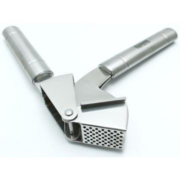 EcoJeannie Professional Garlic Press (Free Brush) w/Round Holes, Mincer, Crusher