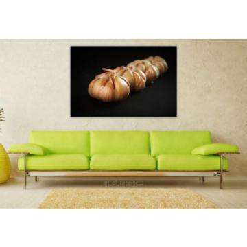 Stunning Poster Wall Art Decor Garlic Meals White Clove Seasoning 36x24 Inches