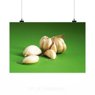 Stunning Poster Wall Art Decor Garlic Meals Seasoning White Clove 36x24 Inches