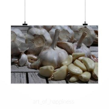 Stunning Poster Wall Art Decor Garlic Food Onion Vegetables Bold 36x24 Inches