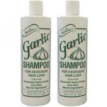 Nutrine Garlic Shampoo Unscented 16oz Pack of 2
