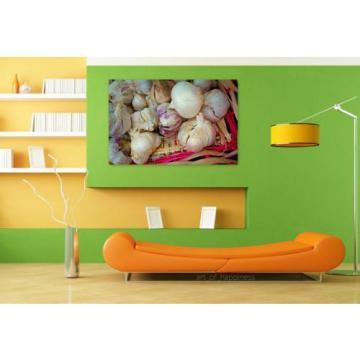 Stunning Poster Wall Art Decor Garlic Bulb Onion Allium Sativum 36x24 Inches