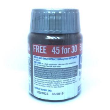 Quest Kyolic Garlic 1000mg (heart & Circulation) 45 Tablets 30 plus 15 tabs Free