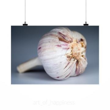 Stunning Poster Wall Art Decor Garlic Food Spices Taste Health 36x24 Inches
