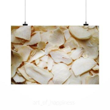 Stunning Poster Wall Art Decor Dried Garlic Spice Cooking Meal 36x24 Inches
