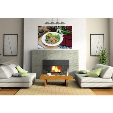 Stunning Poster Wall Art Decor Fish Garlic Seafood Dish Food 36x24 Inches