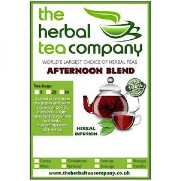 Black garlic Afternoon Blend Tea Bags 25 Pack With A Hint Of Orange
